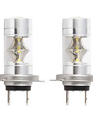 cheap -2pcs/lot car 2835 Led H7 Car fog light 2835 LED 12SMD Auto Driving Light DRL  6000k White 12v