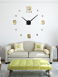 cheap -M.Sparkling 3d Real Big Wall Clock Rushed Mirror Wall Sticker  Living Room Home Decor Fashion Watches Quartz Wall Clock
