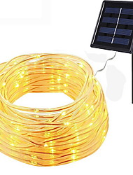 cheap -12m String Lights 100 LEDs Warm White Solar / Decorative Solar Powered 1 set
