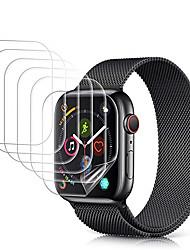 Недорогие -5 упак. Защитная пленка для Apple Watch серии 5 4 3 2 1 анти-пузырчатая пленка hd clear гибкая защитная пленка из тпу