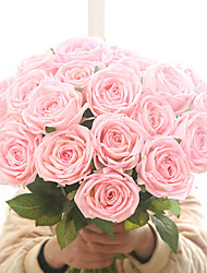Недорогие -искусственный цветок чувствовать увлажняющий роза завод дома свадебные украшения поддельные цветок