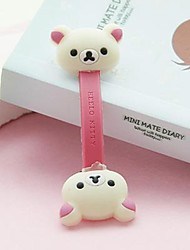 cheap -White Bear Small Size / Lovely Toy Shape Cable Cord Holder