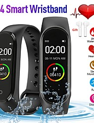 cheap -Indear QW-M4 Men Women Smart Bracelet Smartwatch Android iOS Bluetooth Touch Screen Heart Rate Monitor Blood Pressure Measurement Sports Calories Burned Pedometer Call Reminder Activity Tracker Sleep