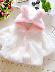 Недорогие -малыш Девочки Активный / Богемный Однотонный Шнуровка Обычная Куртка / пальто Белый