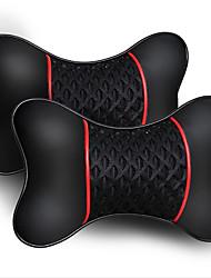 Недорогие -2шт искусственная кожа вязаный автомобиль подголовник подушка шеи подушка сиденья аксессуары