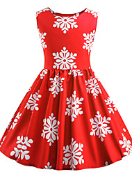cheap -Audrey Hepburn Party Costume JSK / Jumper Skirt Kid's Girls' Retro Vintage Halloween Halloween Festival / Holiday Polyster Red Carnival Costumes / Dress