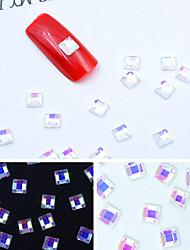 cheap -30pcs/pack AB Color 3D White Bottom Shiny Crystal Jewel DIY Nail Art Glass Rhinestones Nail Charms Nail Supplies