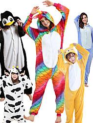 abordables -Adulte Pyjamas Kigurumi Manchot Animal Combinaison de Pyjamas Polaire Noir blanc / Blanche / Jaune Cosplay Pour Homme et Femme Pyjamas Animale Dessin animé Fête / Célébration Les costumes