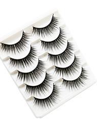 cheap -3D Mink Hair False Eyelashes Natural Thick Long Eye Lashes Wispy Makeup Beauty Extension Tools 5 Pairs
