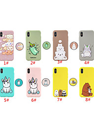 cheap -Case For Apple iPhone 12 / iPhone 11 / iPhone 12 Pro Max with Stand / Pattern Back Cover Animal / Cartoon TPU