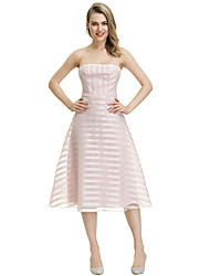 cheap -Women's Sheath Dress - Striped Blushing Pink S M L XL