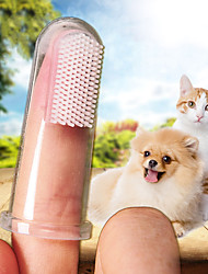 cheap -Dog Cat Brushes Full Body Silicone Dog Clean Supply Soft Pet Grooming Supplies Transparent 10-Pack