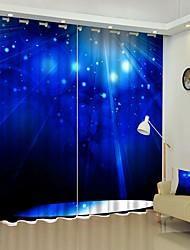 cheap -White Light Digital Printing 3D Curtain Shading Curtain High Precision Black Silk Fabric Curtain