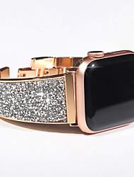 abordables -bracelet de diamant de luxe pour la série de montres apple 5/4/3/2/1 bracelet bracelet bling tchèque femme de pierre femme bracelet de montre pour bande iwatch 44mm / 40mm / 42mm / 38mm