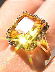 cheap -Women Ring Classic Gold Gold Plated Antique Luxury Yellow 1pc 6 7 8 9 10 / Women's