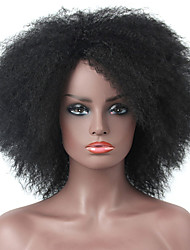 cheap -Synthetic Wig Cosplay Wig Afro kinky Straight Pixie Cut Side Part Wig Short Natural Black #1B Brown Dark Wine Dark Brown#2 Synthetic Hair 12 inch Women's Adjustable Party Women Black Laflare