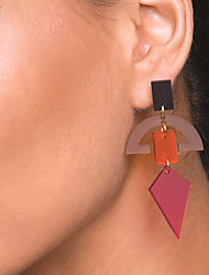 cheap -Women's Drop Earrings Dangle Earrings 3D Precious Fashion Earrings Jewelry Fuchsia / Blue / Gray For Party Daily Street 1 Pair