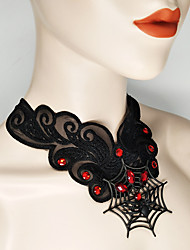 cheap -Bat Spider Women's Halloween Halloween Festival / Holiday Lace Alloy Black Women's Easy Carnival Costumes Lace / Necklace / Necklace