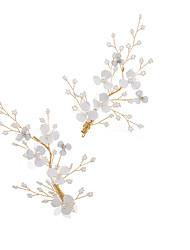 Недорогие -Сплав с Жемчужная отделка / Crystal / Rhinestone / Цветы 1 пару × 2 Свадьба Заставка