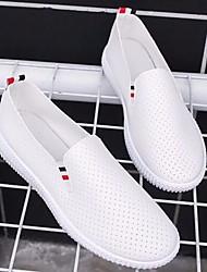 cheap -Women's Flats Flat Heel Round Toe Pigskin Spring White / Black