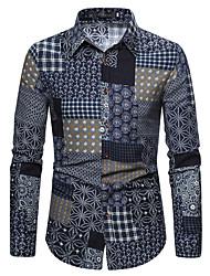 cheap -Men's Shirt Graphic Long Sleeve Daily Tops Button Down Collar Rainbow