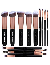 cheap -Professional Makeup Brushes 14pcs Cute Full Coverage Sexy Lady Travel Size Plastic for Eyeshadow Kit Makeup Brush