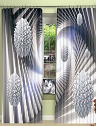 cheap -Three Dimensional White Creative Suspension Ball Pattern Digital Printing 3D Curtain Shading Curtain High Precision Black Silk Fabric High Quality Curtain
