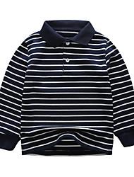 cheap -Kids Boys' Basic Blue Striped Fur Trim Long Sleeve Sweater & Cardigan Navy Blue