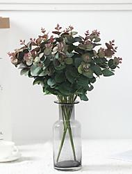 Недорогие -симуляция растений 5 вилок куча денег лист эвкалипт листья свадьба зеленый план