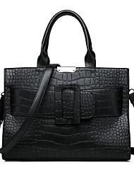 cheap -Women's PU Top Handle Bag Crocodile Black / Dark Brown / Wine