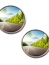 cheap -Rear view of the push car small round mirror large vision reverse help blind spot car accessories reverse gear