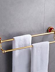 Недорогие -Держатель для полотенец Новый дизайн / Cool Modern Алюминий 1шт 2-х опорная балка На стену