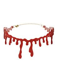 Недорогие -ведьма Кровавый Сангу Жен. Halloween Хэллоуин Фестиваль / праздник Пластик Красный Жен. Карнавальные костюмы / Ожерелья / Neckwear / Ожерелья / Neckwear