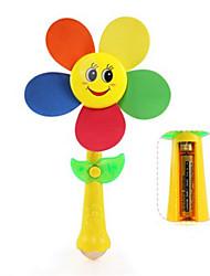 cheap -Children's Wooden Windmill Toy Assembly Cartoon Clowns