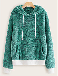 cheap -Women's Casual / Active Hoodie - Solid Colored Green S