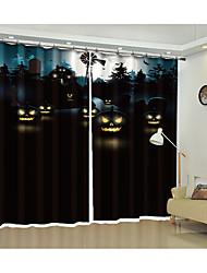 cheap -Halloween Fabric Decoration Eyes in The Dark Digital Printing 3d Curtain Festival Halloween Shading Curtain High Precision Black Silk Fabric High Quality Level Shading Bedroom Living Room Curtain