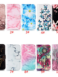 cheap -Case For Apple iPhone 11 / iPhone 11 Pro / iPhone 11 Pro Max Card Holder / with Stand / Flip Full Body Cases Flower / Marble PU Leather