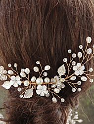 cheap -Alloy Hair Accessory with Flower 1 pc Wedding / Special Occasion Headpiece