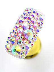 cheap -1000pac/pack DIY Pink Bottom AB Color Rhinestone Flat bottom Super Flash White Diamond Nail Accessories