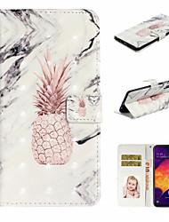 Недорогие -Кейс для Назначение SSamsung Galaxy A6 (2018) / Galaxy A7(2018) / A8 2018 Кошелек / Бумажник для карт / Защита от удара Чехол Продукты питания Кожа PU