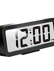 Недорогие -легко установить, plumeet большой цифровой ЖК-будильник с дремлющей ночью, восходящий звуковой сигнал&ручной размер, лучший подарок для детей