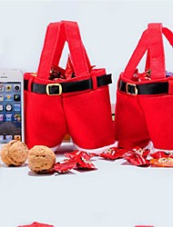 cheap -Christmas Gift Bag Red Christmas Bag Wedding Candy Bag