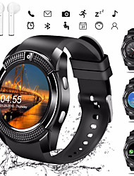 cheap -Indear V8 Men Women Smartwatch Android iOS Bluetooth 2G Waterproof Touch Screen Sports Calories Burned Hands-Free Calls Timer Stopwatch Pedometer Call Reminder Activity Tracker
