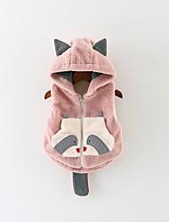 Недорогие -малыш Девочки Классический С принтом Куртка / пальто Белый
