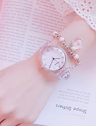 cheap -Women's Quartz Watches New Arrival Minimalist Grey Silicone Chinese Quartz Black Blushing Pink Blue Chronograph Cute New Design 2pcs Analog One Year Battery Life