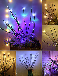 cheap -LED Willow Branch Lamp Floral Lights Staycation Holiday Home Christmas Party Garden Decoration AA Battery-Operated Tree Branch Lights 1pc