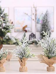 Недорогие -Праздничные украшения Новый год Рождественские украшения Декоративная Зеленый+Цвет лайма 3шт