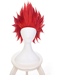 cheap -Synthetic Wig Cosplay Wig Straight Free Part Wig Short Red Synthetic Hair 8inch Men's Cosplay Creative Heat Resistant Red