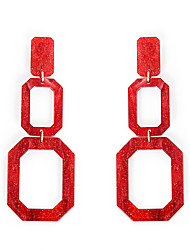 cheap -Women's Drop Earrings Classic Joy Fashion Cute Earrings Jewelry Black / Red For Gift Daily Carnival Holiday Club 1 Pair