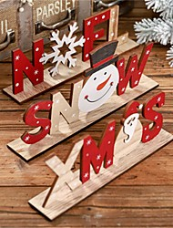 cheap -2019 Christmas Decorations For Home Wooden Letter Santa Claus Ornaments Xmas Home Dinner Party Table Decor Navidad New Year 2020